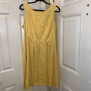 Madison Leigh Yellow Fit and Flare Dress
